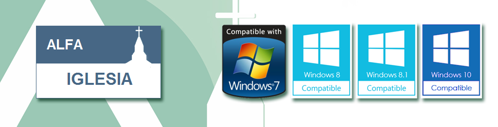 AlfaIglesia es totalmente compatible con Windows.