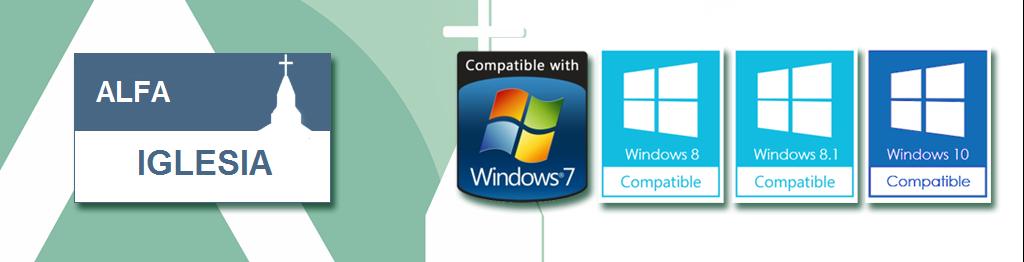 AlfaIglesia es totalmente compatible con Windows.